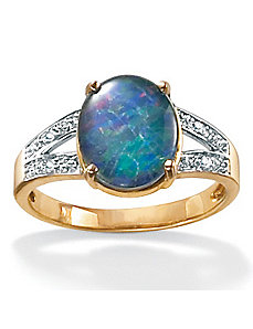 Opal 10k Gold Ring by PalmBeach Jewelry