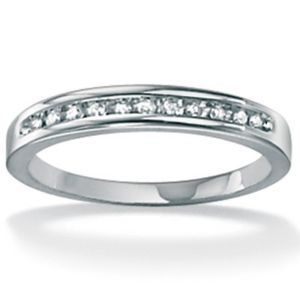 Diamond Anniversary White Gold Ring
