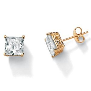 3.60 CT.T.W. Cubic Zirconia 10k Stud Earrings