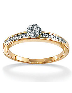 Diamond 10k Gold Ring by PalmBeach Jewelry