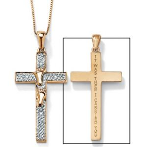 "10k""Footprints""Cross Pendant"