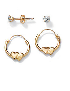 2-Piece Childs Earring Set by PalmBeach Jewelry