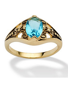 Sim. Birthstone Antiqued Ring by PalmBeach Jewelry