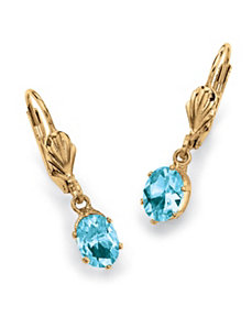 Sim. Birthstone Earrings by PalmBeach Jewelry