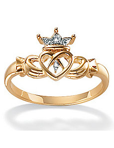 10k Gold Claddagh Ring by PalmBeach Jewelry