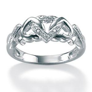 Diamond Acc. Platinum/SS Ring