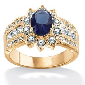 Sim. Sapphire Classic Ring