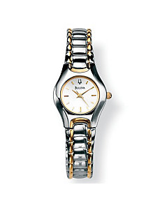 "Bulova Silver-Colored Watch 7"" by PalmBeach Jewelry"