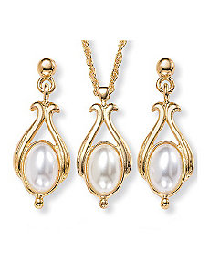 Simulated Pearl Jewelry Set by PalmBeach Jewelry