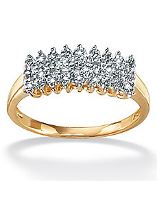 Diamond 10k Gold Peak Ring by PalmBeach Jewelry