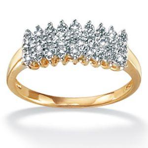Diamond 10k Gold Peak Ring