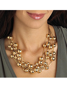 Beaded Necklace Goldtone by PalmBeach Jewelry