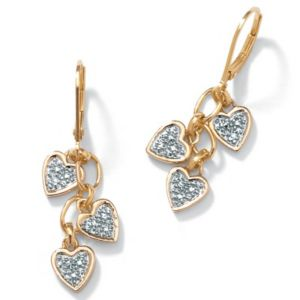 Diamond Accent 18k/SS Earrings