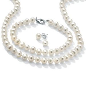 3-Piece Freshwater Pearl SS Set