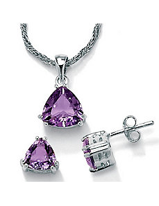 2-Piece Amethyst Set by PalmBeach Jewelry