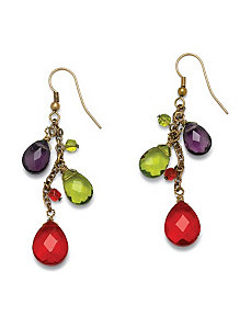 Multi-Glass Drop Earrings by PalmBeach Jewelry