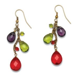 Multi-Glass Drop Earrings