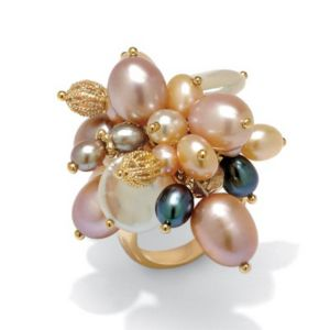 Freshwater Pearl 18k/SS Ring