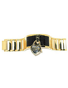 "JLo Dangling Charm Watch 7 1/2"" by PalmBeach Jewelry"