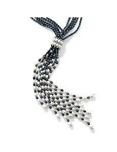 "Grey Pearl Necklace 22""-24"" by PalmBeach Jewelry"