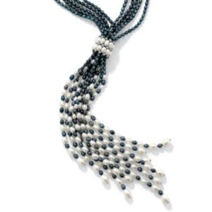 "Grey Pearl Necklace 22""-24"""