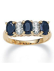 Sapphire/Diamond Accent Ring by PalmBeach Jewelry