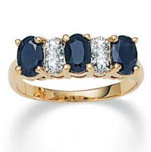 Sapphire/Diamond Accent Ring
