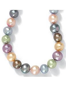 "Pearl Silver Necklace 18"" by PalmBeach Jewelry"