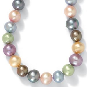 Pearl Silver Necklace 18""