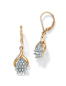 Diamond Accent Pierced Earrings by PalmBeach Jewelry