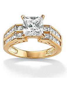 Cubic Zirconia Gold Ring by PalmBeach Jewelry