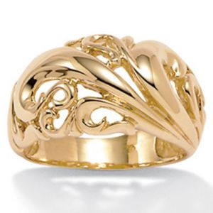 18k/SS Gold Dome Ring