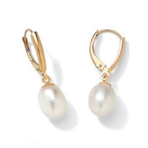 18k/SS Pearl Gold Earrings