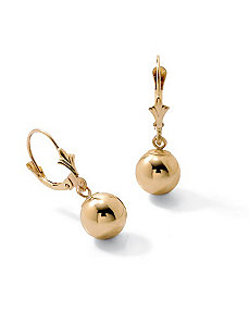 18k/SS Gold Drop Earrings by PalmBeach Jewelry