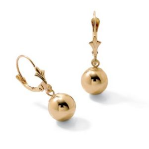 18k/SS Gold Drop Earrings