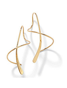18k/SS Gold Spiral Earrings by PalmBeach Jewelry