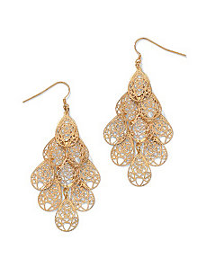 Filigree Charm Earrings by PalmBeach Jewelry