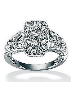 Diamond Accent Filigree Ring by PalmBeach Jewelry