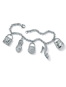Handbag & Shoe Charm Bracelet by PalmBeach Jewelry