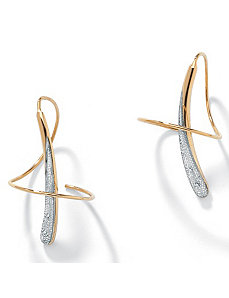 10k Gold Spiral Earrings by PalmBeach Jewelry