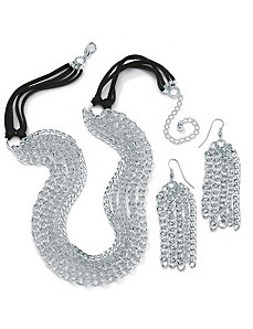 2-Piece Multi-Link Jewelry Set by PalmBeach Jewelry