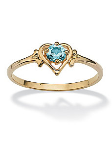 Birthstone Heart-Shaped Ring by PalmBeach Jewelry