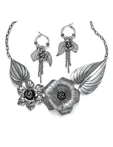 2-Piece Flower & Leaf Set by PalmBeach Jewelry