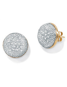 Diamond 10k Gold Cluster Earrings by PalmBeach Jewelry