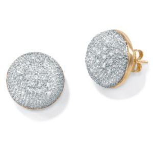 Diamond 10k Gold Cluster Earrings