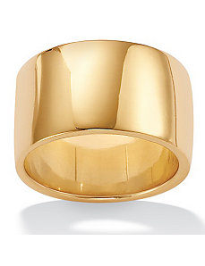 Wide 18k/SS Wedding Band by PalmBeach Jewelry