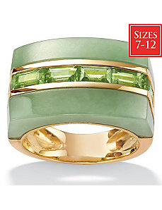 Jade/Peridot 18k/SS Fashion Ring by PalmBeach Jewelry
