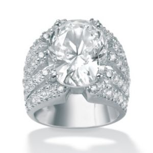 Cubic Zirconia Silver Sparkler Ring