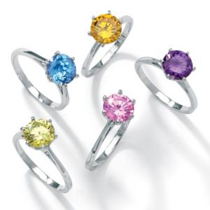 5-Piece cubic zirconia Solitaire Ring Set