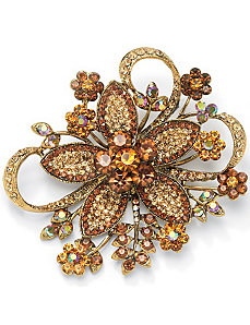 Multi-Crystal Flower Pin by PalmBeach Jewelry